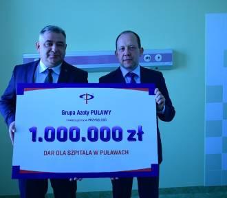 """Szpital dostał od Azotów milion złotych na remont. """"Oddział będzie spełniał  XXI-wieczne standardy"""""""