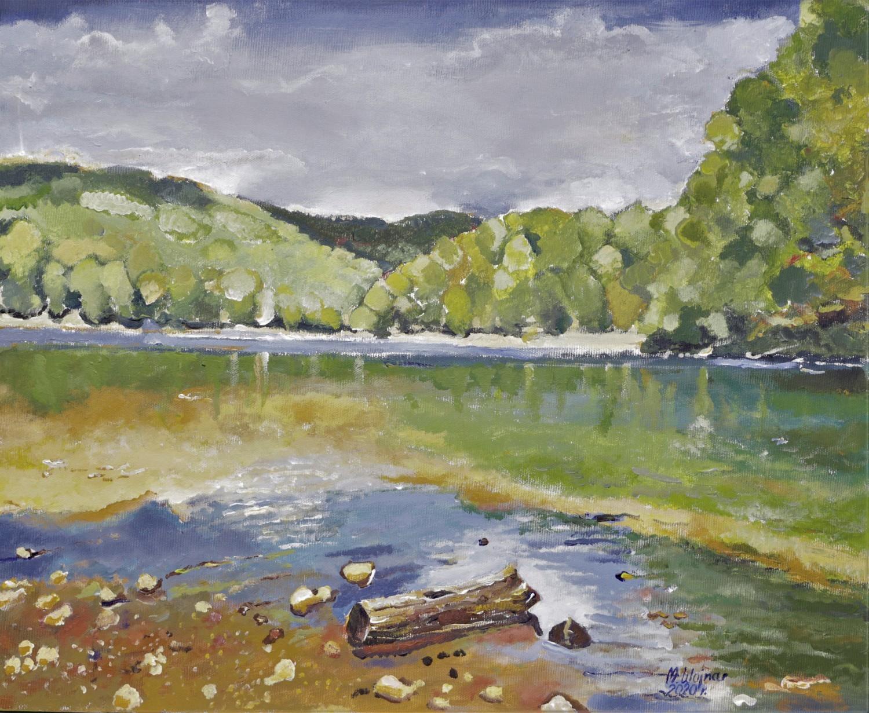 Małgorzata Wojnar, Krajobraz, akryl, płótno, 50x60 cm