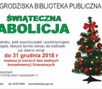 Grodziska Biblioteka Publiczna ogłasza świąteczną abolicję