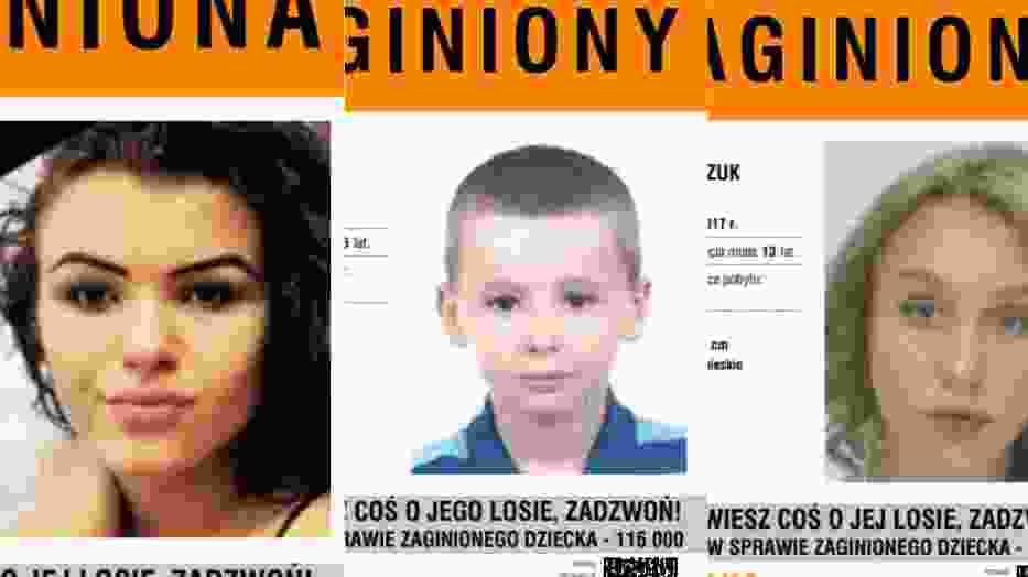 Zaginione dzieci w Polsce. Możemy pomóc w ich odnalezieniu [WIZERUNKI]