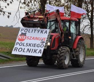 Kolejne protesty rolników w regionie. Traktory wyjechały na drogi
