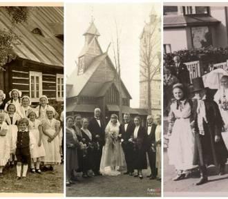 Tłumy pod Śnieżką . Zobacz mieszkańców i turystów w latach 30-tych w Karpaczu