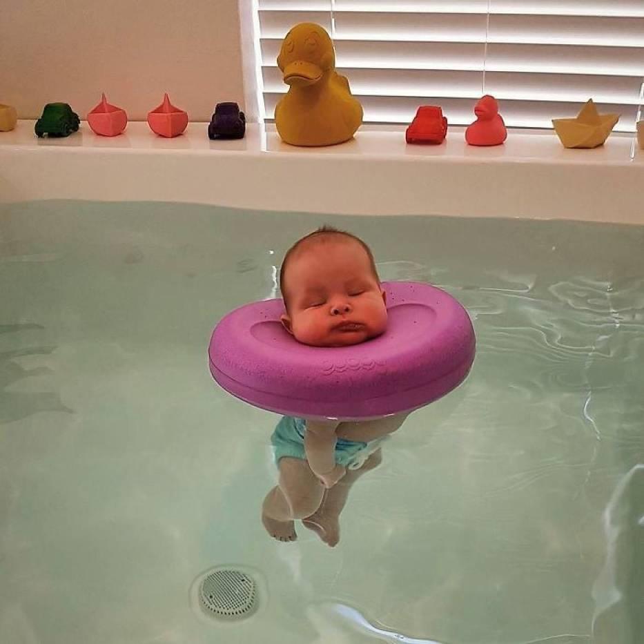 Nigdy nie będziecie tak zrelaksowani, jak to dziecko w... SPA dla niemowlaków [ZDJĘCIA]