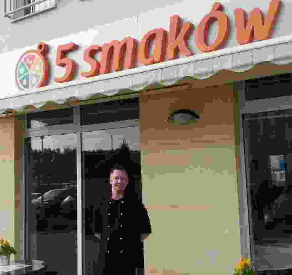 Marcin Piotrowski, kucharz/szef kuchni w restauracji 5 Smaków w Borkowie (gm. Pruszcz Gdański)