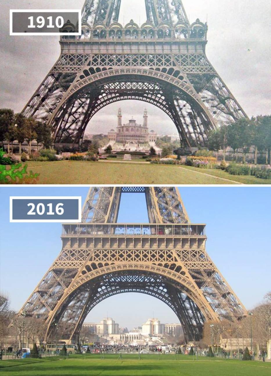 Tour Eiffel, Paris, France, 1910 - 2016