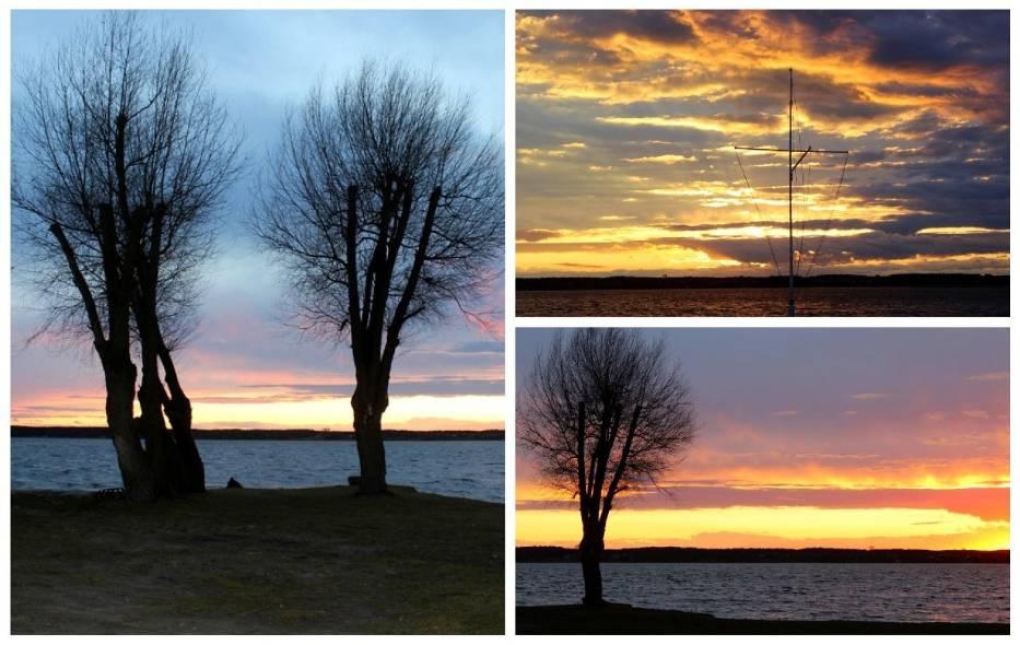 Zachód słońca nad jeziorem Błędno