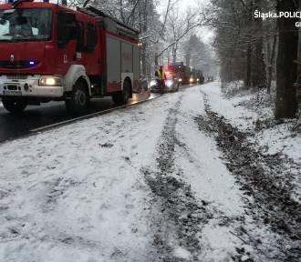 Tragiczny wypadek na drodze z Gliwic do Pyskowic. Pod kołami tira zginął pieszy
