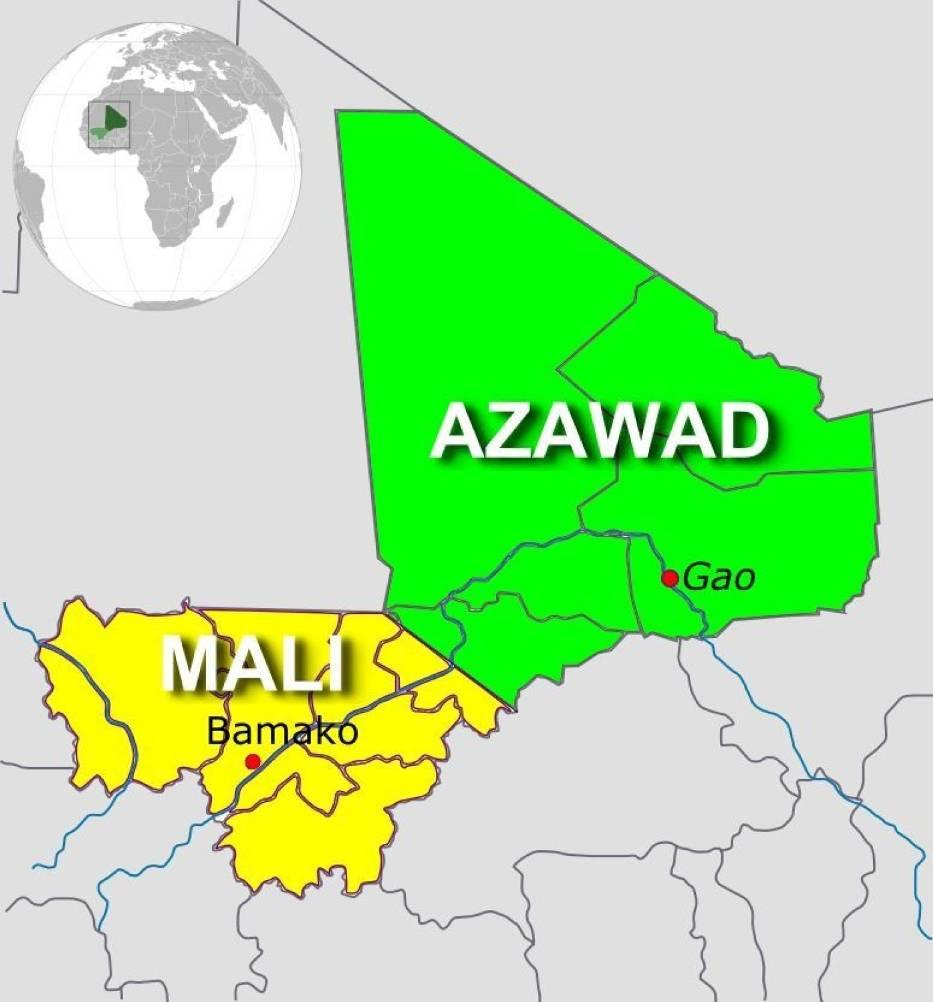 Mapa Mali oraz Azawadu (http://commons