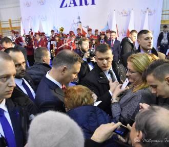 Prezydent Polski Andrzej Duda w Żarach. Spotkał się z mieszkańcami