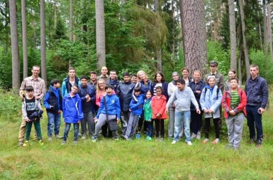 Młodzież z Kuwejtu odwiedziła las