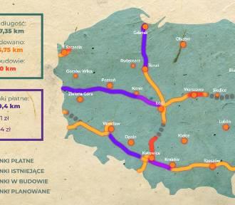 Mapa autostrad w Polsce: Gdzie budują? [INTERAKTYWNA MAPA]