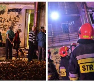 Pożar w bloku na ulicy Wienieckiej we Włocławku. Dwie osoby trafiły do szpitala [zdjęcia]