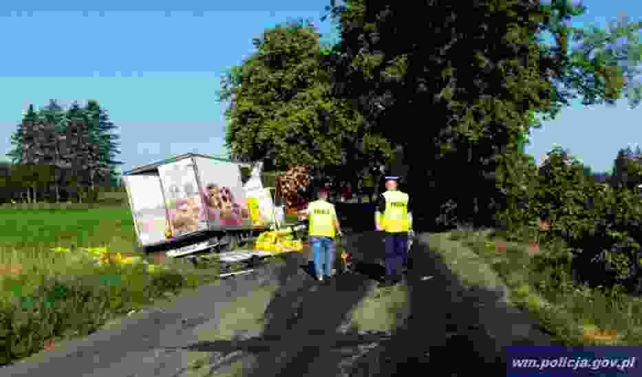 wypadek w pobliżu miejscowości Zalewo