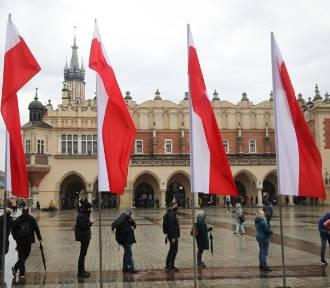 Mieszkańcy Krakowa pamiętali o Dniu Flagi. Miasto w barwach biało-czerwonych ZDJĘCIA