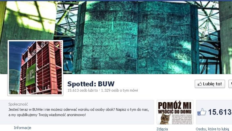 Impreza Spotted: BUW. Porozmawiaj twarzą w twarz z tymi, których obgadywałeś na fanpage'u