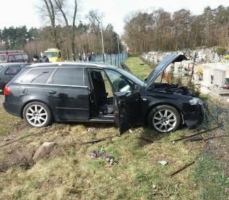 Wypadek na trasie Jabłonna- Wioska FOTO