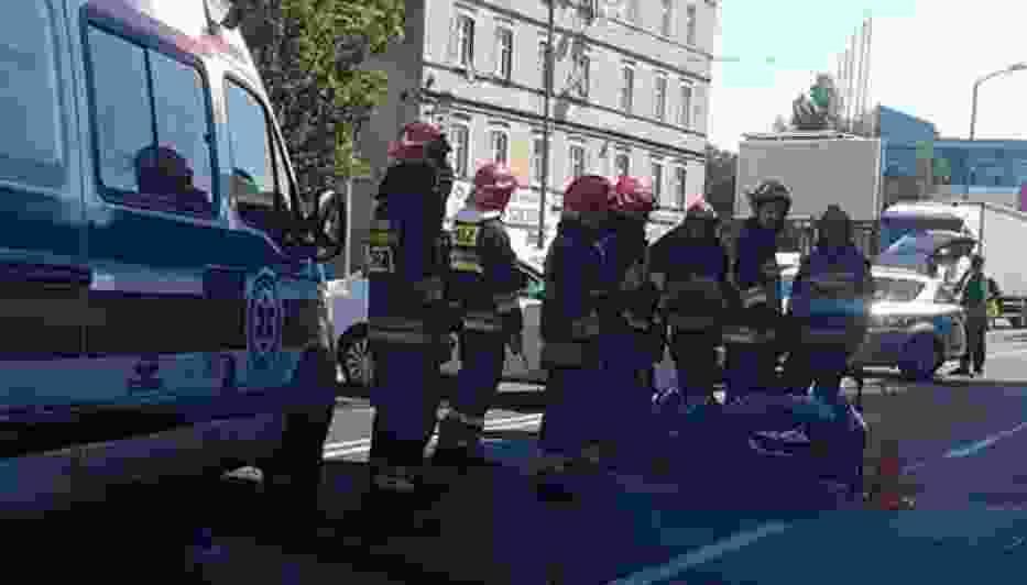 Wypadek motocyklisty w Chorzowie