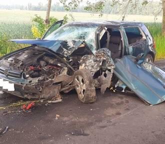 Wypadek pod Kruszwicą. Dwie osoby w szpitalu [zdjęcia]