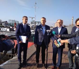 Przekop Mierzei. Konferencja polityków PO. Zarzucają PiS manipulację i oszustwo w sprawie kanału