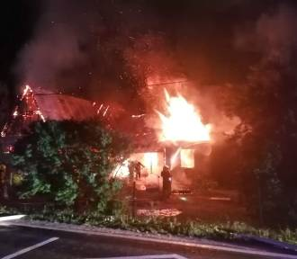 Podhale. Pożar w Bańskiej Niżnej. Spłonął budynek mieszkalno-gospodarczy
