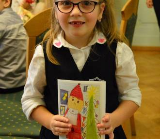 Hania z SP 4 narysowała najładniejszą kartkę świąteczną! [ZDJĘCIA]