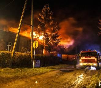Pożar budynku w Lipowcu [ZDJĘCIA]