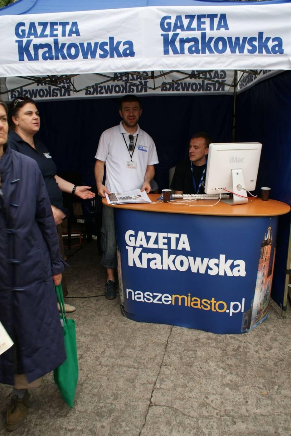 Stoisko Gazety Krakowskiej