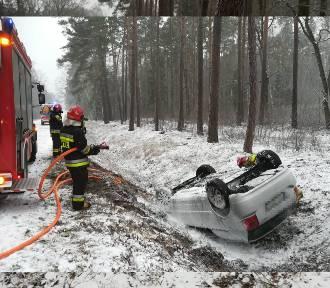 Groźne zdarzenie na drodze w Konarzewie