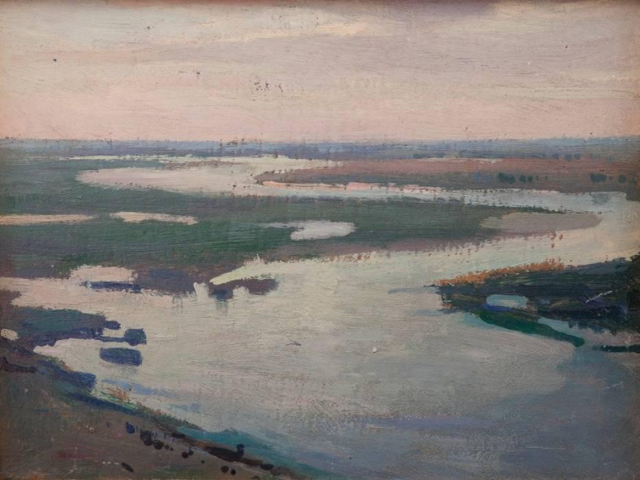Jan Stanisławski, Dniepr (Limany Dniepru o świcie), 1903, ze zbiorów Muzeum Narodowego w Krakowie