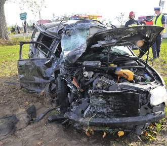 ŁUSZKOWO. Śmiertelny wypadek na skrzyżowaniu z drogą do Zbęch [FOTO]
