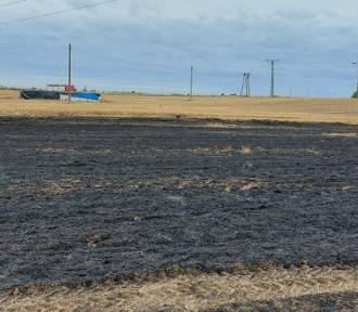 Pożar ścierniska w Mikołajkach Pomorskich - strażacy apelują o zachowanie ostrożności
