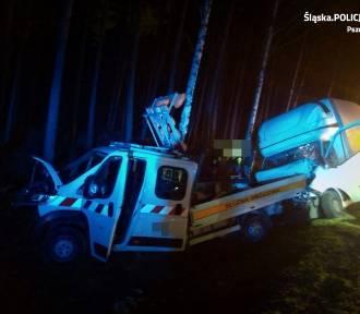 Wypadek na trasie DK1 w Kobiórze. Jedna osoba nie żyje