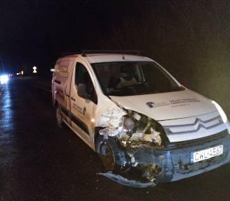 Wypadek na drodze Włocławek - Lipno. Policja i poszkodowani szukają sprawcy, który uciekł z miejsca