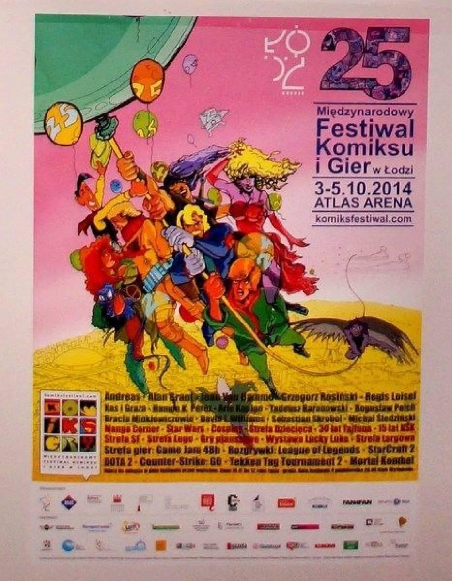 Plakat 25 Międzynarodowego Festiwalu Komiksu i Gier w Łodzi