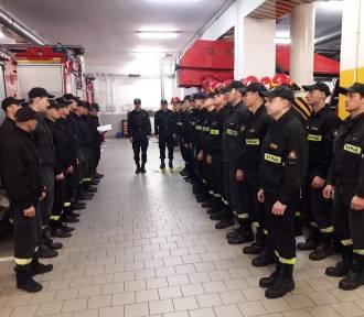 Straż pożarna w Kaliszu. Awanse na wyższe stopnie. ZDJĘCIA