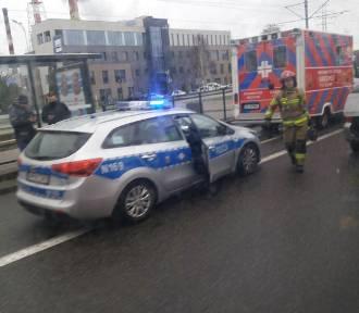 Jedna osoba poszkodowana w wypadku przy ul. Marynarki Polskiej w Gdańsku