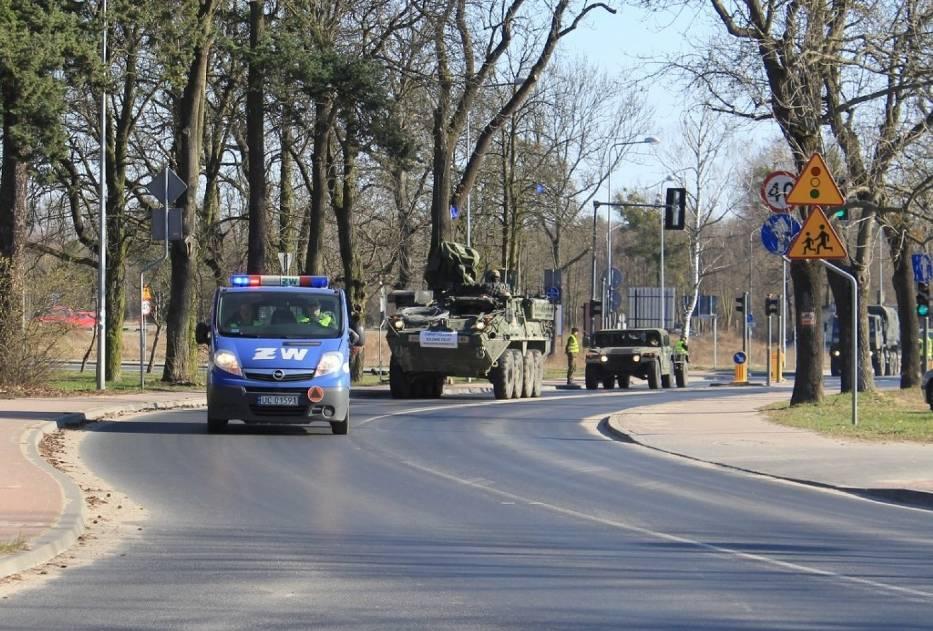 Nasz fotoreporter sfotografował konwój w podpoznańskim Biedrusku