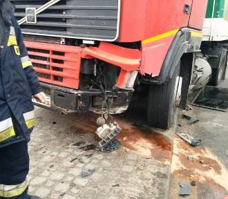 Wypadek w Redzie: zderzyły się 2 ciężarówki i 3 auta osobowe