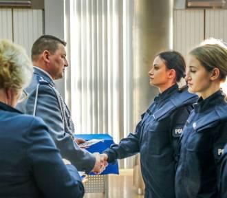 Ślubowanie policjantów nowo przyjętych w szeregi łódzkiej policji [ZDJĘCIA]