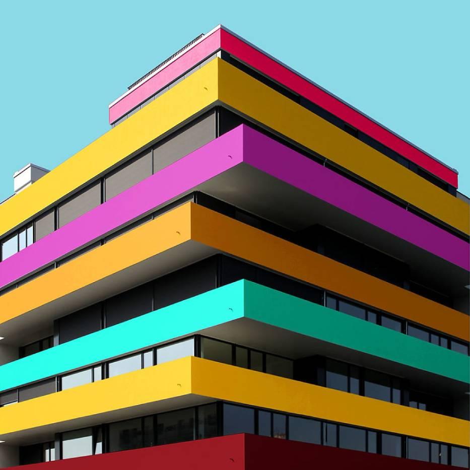 """Kreatywna architektura. Niesamowite budynki """"pokolorowane"""" przez studenta architektury!"""