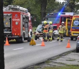 Witkowo: Wypadek przy u. Gnieźnieńskiej - droga zablokowana [GALERIA]