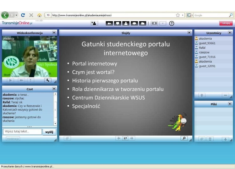 Screen ze strony internetowej www