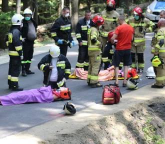 Groźny wypadek w Karłowie na Dolnym Śląsku. Po rannych przyleciał helikopter LPR [ZDJĘCIA]