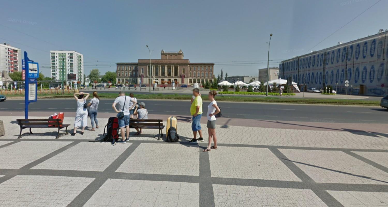 Dąbrowskie ulice na zdjęciach w Google Street View