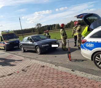 Wypadek pod Dąbrową Tarnowską. Motocyklista uderzył w samochód [ZDJĘCIA]
