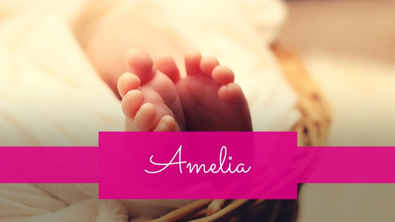 Imię Amelia zajęło 9