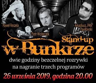 Stand-up w Bunkrze. Reszela, Wojteczek, Pawłowski