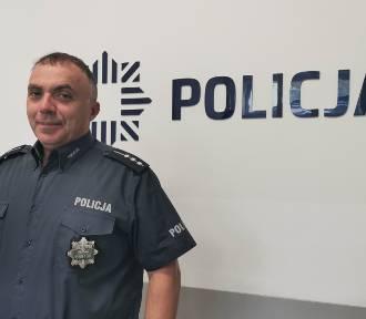 Policjant z Brodnicy st. asp. Wojciech Panek uratował tonącego wędkarza