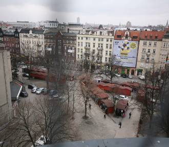 Wniosek o wycięcie 13 drzew z placu Synagogi w centrum Katowic