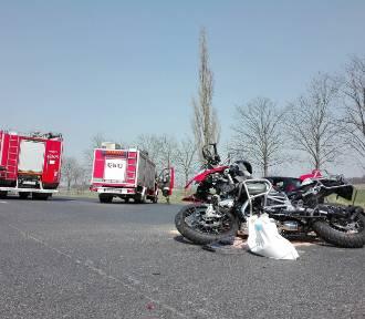 Wypadek na drodze wyjazdowej ze Świebodzina. Motocyklista trafił do szpitala